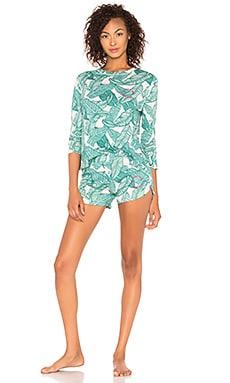 Купить Пижамный набор - MONROW зеленого цвета