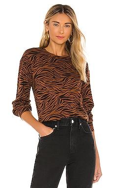 Zebra Full Sleeve Sweatshirt MONROW $142 BEST SELLER