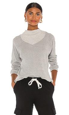 Heather Pointelle Cowl Raglan Sweatshirt MONROW $128