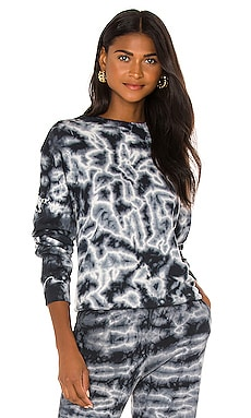 Crystal Tie Dye Boyfriend Sweatshirt MONROW $158 NEW
