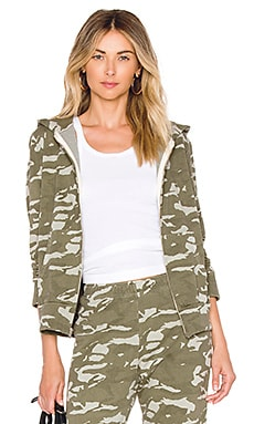 Two Tone Camo Zip Up Hoodie MONROW $111