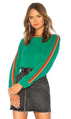 Купить Свитшот vintage rainbow stripe - MONROW, Одежда для дома, США, Зеленый
