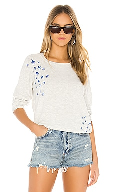 Vintage Raglan With Faded Stars MONROW $146 NEW ARRIVAL