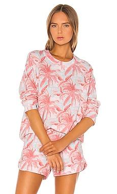 Palm Seamed Sweatshirt MONROW $158 NEW ARRIVAL