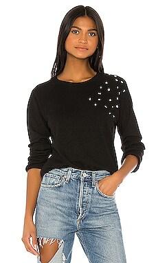 Vintage Raglan Clustered Rhinestone Sweatshirt MONROW $164