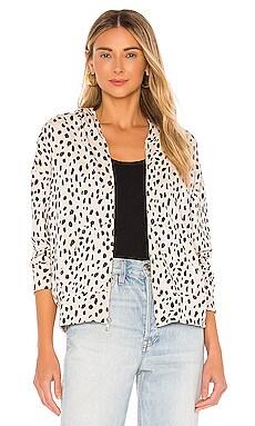 Cheetah Boxy Zip Up Hoodie MONROW $176