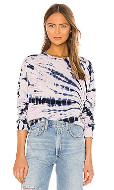 Bamboo Burst Tie Dye Boxy Sweatshirt MONROW $146