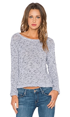 MONROW Salt & Pepper Dip Dye Sweater in White
