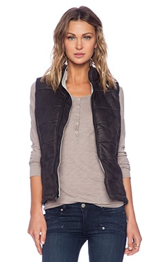 MONROW Puffer Vest in Black