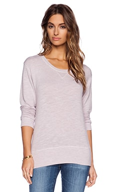 MONROW Crew Neck Sweatshirt in Lavender