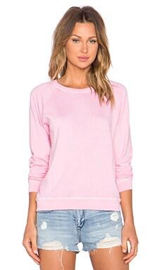 MONROW Vintage Basics Sweatshirt in Pink