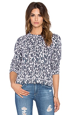 MONROW Leopard Sweatshirt in Pink