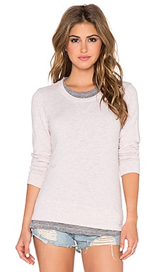 MONROW Layered Sweatshirt in Pink