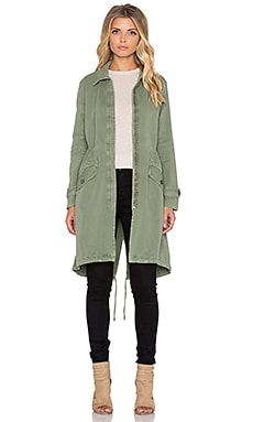 MONROW Long Trench Coat in Camo