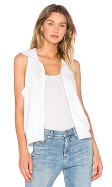 Sleeveless Hoodie in White