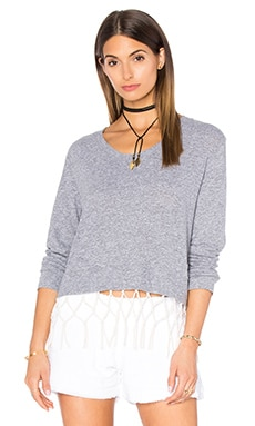MONROW Macrame Sweatshirt in Bone