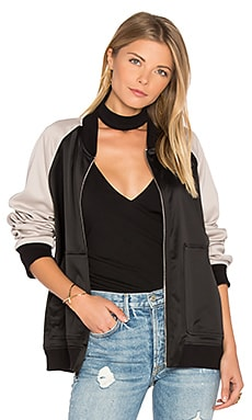 Bomber Jacket in Grey & Black
