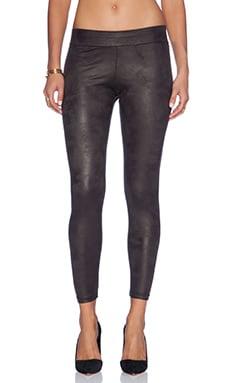 MONROW Soft Leather Basic Leggings in Black