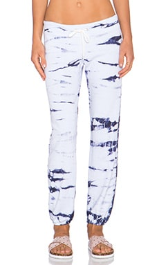 MONROW Bamboo Tie Dye Sweatpant in Surf