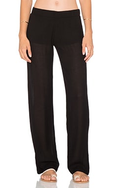 MONROW Chiffon Pant in Black