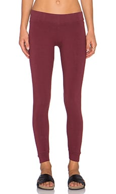 MONROW Yoga Legging in Maroon