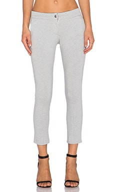 MONROW Brushed Ponte Cigarette Pant in Heather