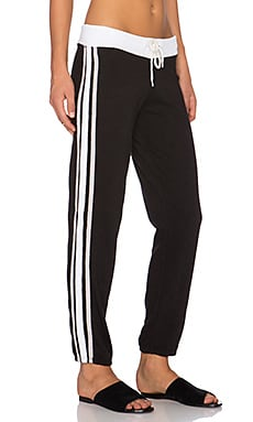 MONROW Football Sweatpant in Black