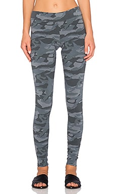 MONROW Camo Legging in Gunmetal