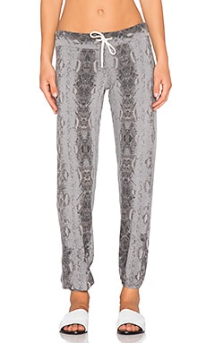 MONROW Snake Print Vintage Sweatpant in Fawn