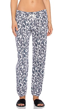 MONROW Leopard Sweatpant in Pink
