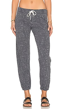 MONROW Houndstooth Vintage Sweatpant in Dark Heather