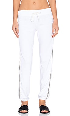 MONROW Tennis Vintage Sweatpant in White