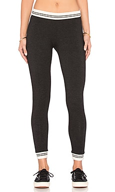 MONROW Rib Band Legging in Black