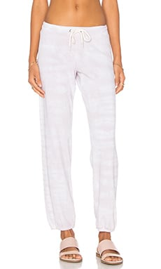 MONROW Fishbone Vintage Sweatpant in Chalk