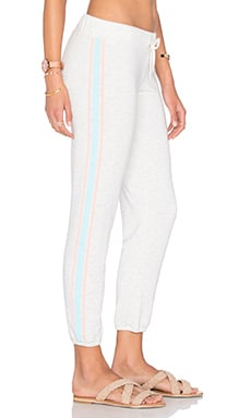 MONROW Athletic Stripe Sweatpant in Sunspray