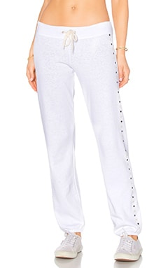 MONROW Vintage Stud Sweatpant in White