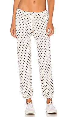MONROW Polka Hearts Vintage Sweats in Dusty Pink