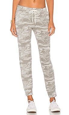 MONROW Neutral Camo Sporty Sweatpant in Dark Heather