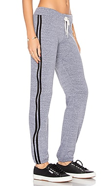 Athletic Vintage Sweatpants en Gris Foncé Chiné