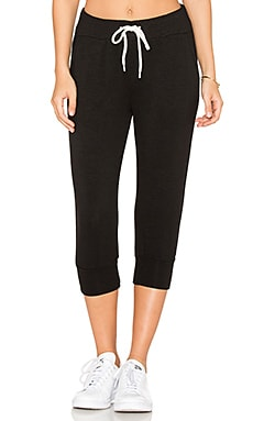 Crop Sweatpant in Black