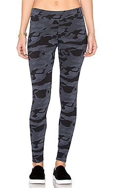 Bone Blue Camo Basic Legging in Blue Clay