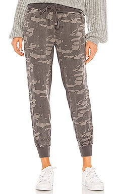 Camo Jogger With Contrast Rib MONROW $175 NEW ARRIVAL