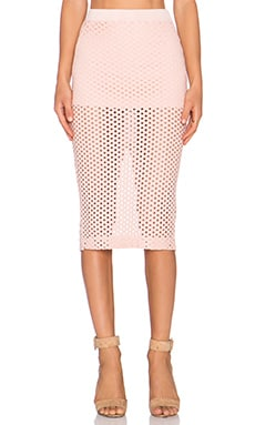 MONROW Crochet Skirt in Pale Pink