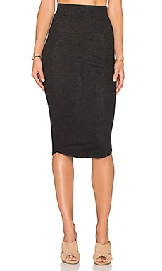 MONROW x REVOLVE Granite Jersey Pencil Skirt in Black