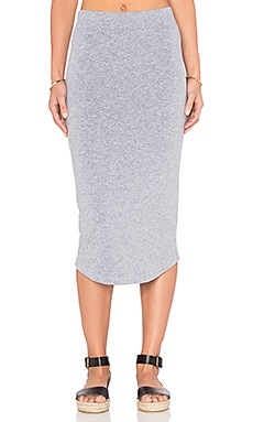 MONROW Pencil Skirt in Granite
