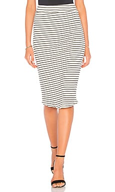Stripe Rib Pencil Skirt