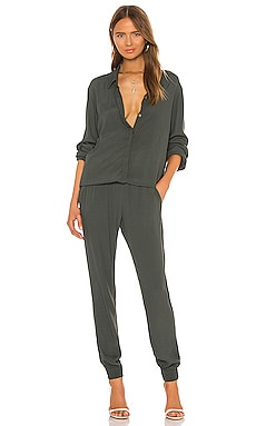 Crepe Long Sleeve Jumpsuit MONROW $187