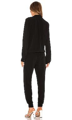 On sale Monrow Crepe Long Sleeve Jumpsuit