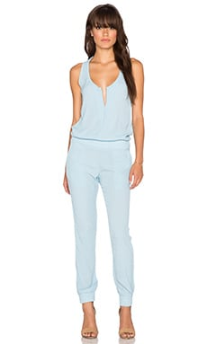 MONROW x REVOLVE Heritage Crepe Jumpsuit in Baby Blue