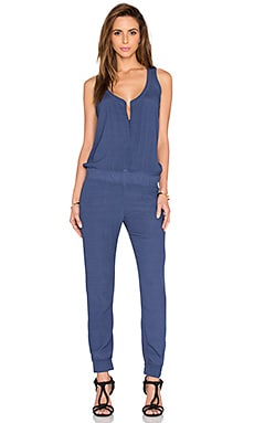 Crepe Jumpsuit in Jean Blue